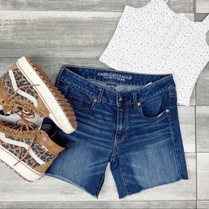American Eagle Outfitters midi jean shorts